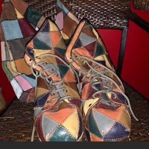 Jeffery Campbell multicolored PatchWork platforms